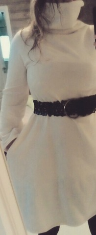 DIY white winterdress