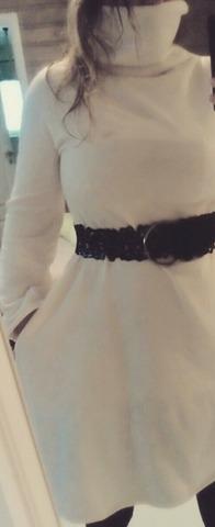 DIY white winterdress