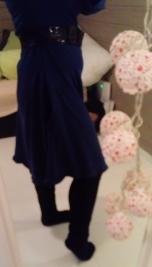 DIY blue dress