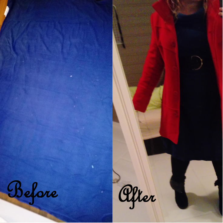 from blue blaket to dress