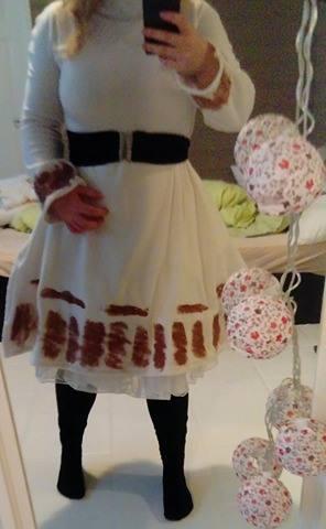 hvit kjole med glitter fremside 2